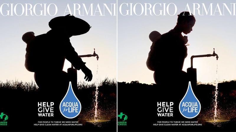 Giorgio Armani sostiene Acqua for Life