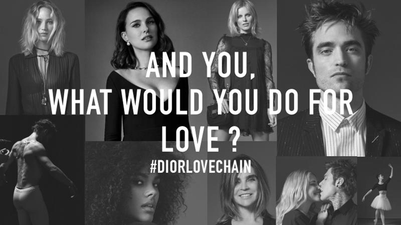 Dior Love Chain. Al via la raccolta fondi.
