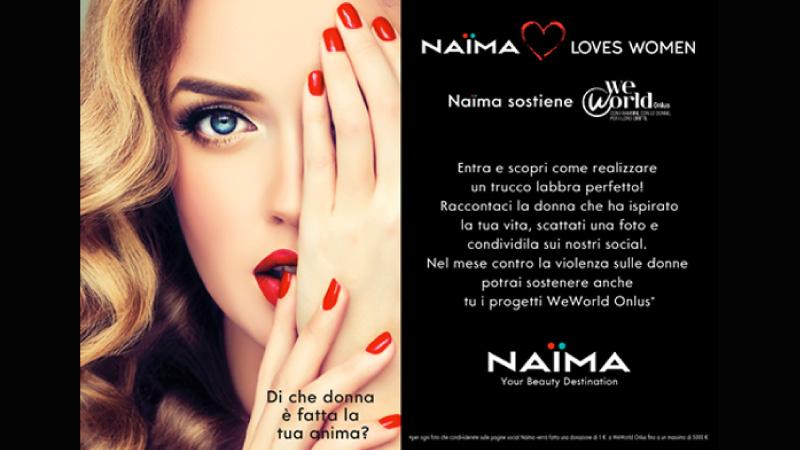 Naïma a supporto delle donne con WeWorld Onlus