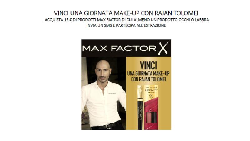 Max Factor Tigotà concorso