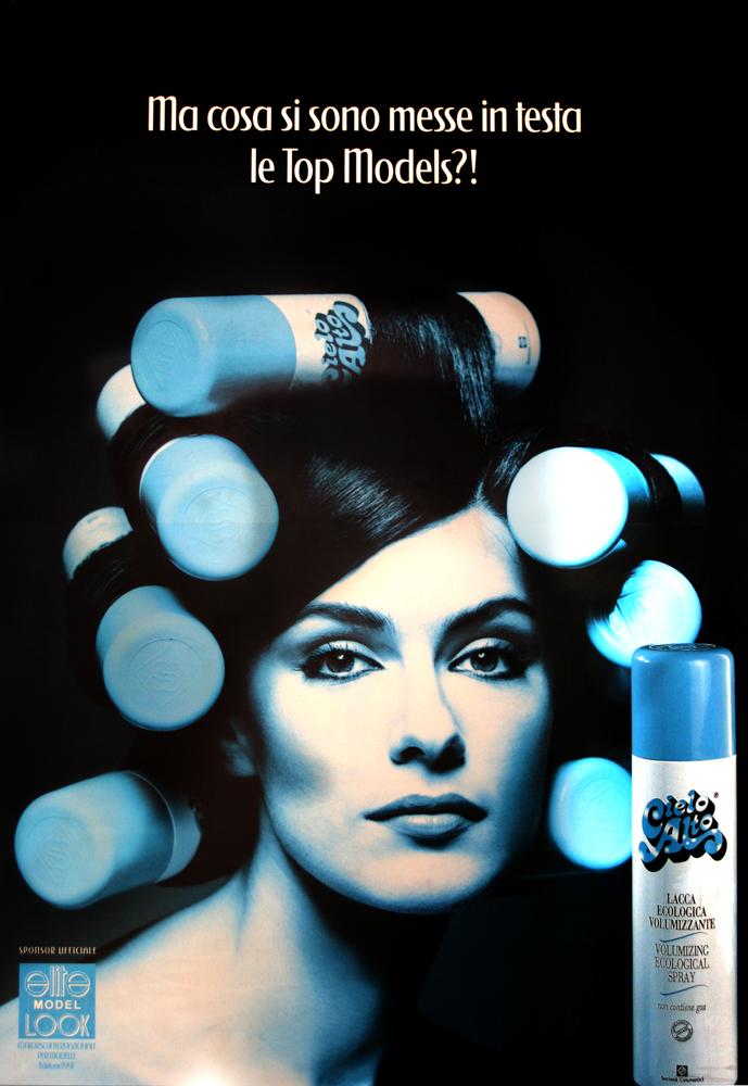 Anna Valle protagonista della campagna pubblicitaria di Cielo Alto ('97/'98)