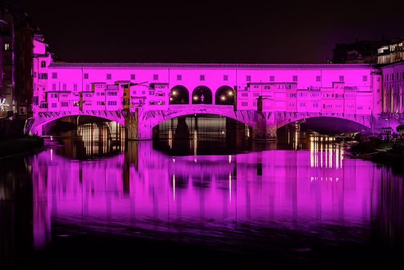 Firenze Ponte Vecchio illuminato