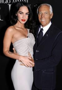 Megan Fox e Giorgio Armani
